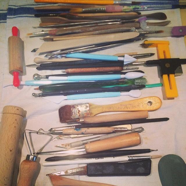 Sunday tool cleaning #ceramics #tools