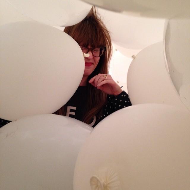 Martin Creed exhibition with @missdmore #hairyballoons #haywardgallery