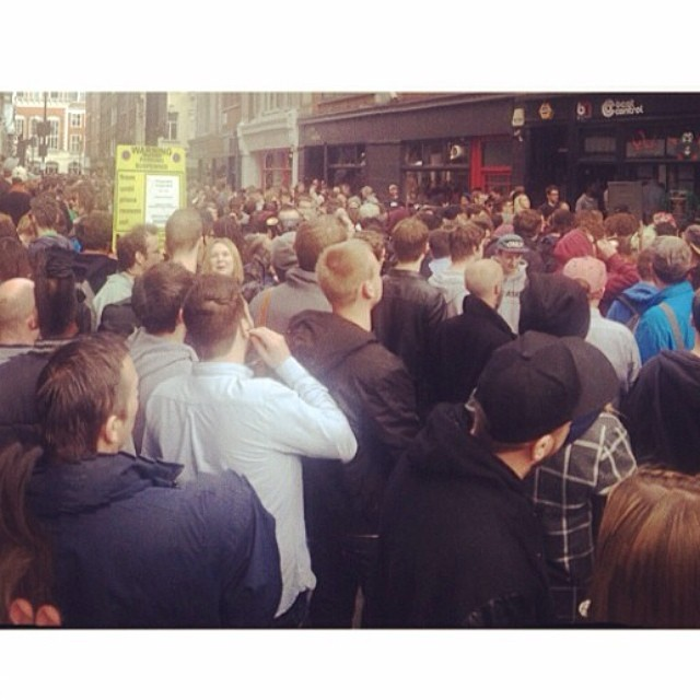 Regram from @stevelaverty from today's encounter with #recordstoreday #mental
