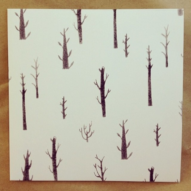 Also got a great purchase with @stevelaverty from #secret7 – a beautiful sleeve by @peonygent #trees #recordstoreday