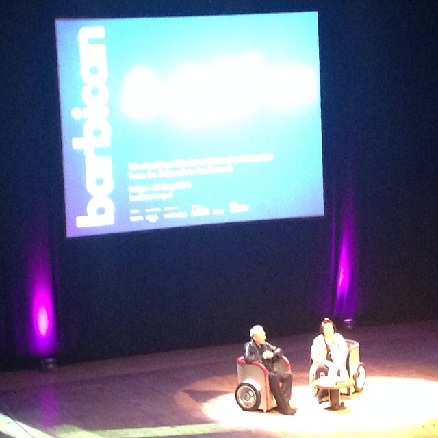 Tres Bon, enthusiastic talk tonight at #barbican with #jeanpaulgaultier and #suzymenkes . Lots of laughs with @stevelaverty as per usual (even if he only just made it…)