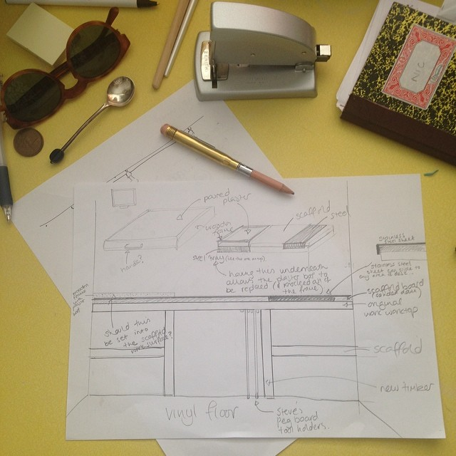 Sketches for my new workbench. Getting seriously excited #bespoke #studio loving working with @Steve__healy