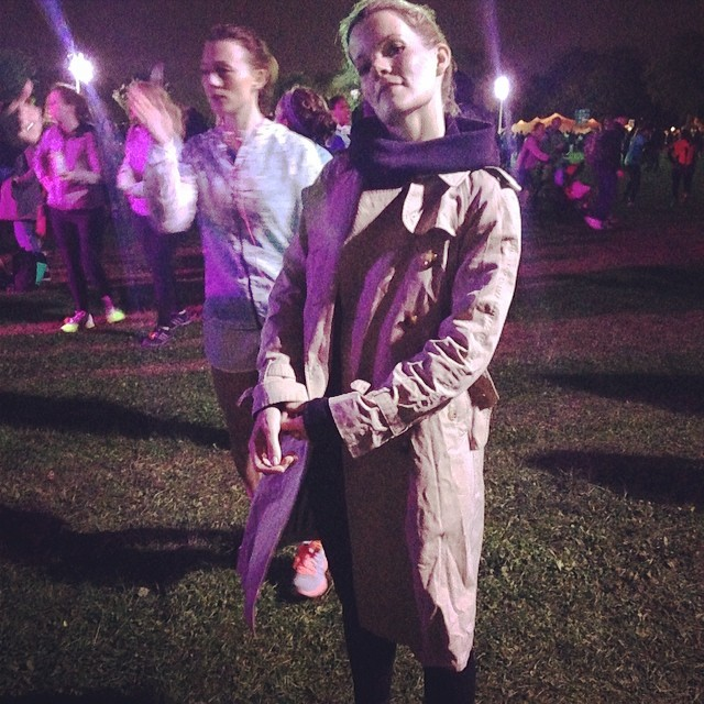My twin sister just finished the 10k Nike run @everyday2 @virginianorris #weownthenight #proud #twinlove