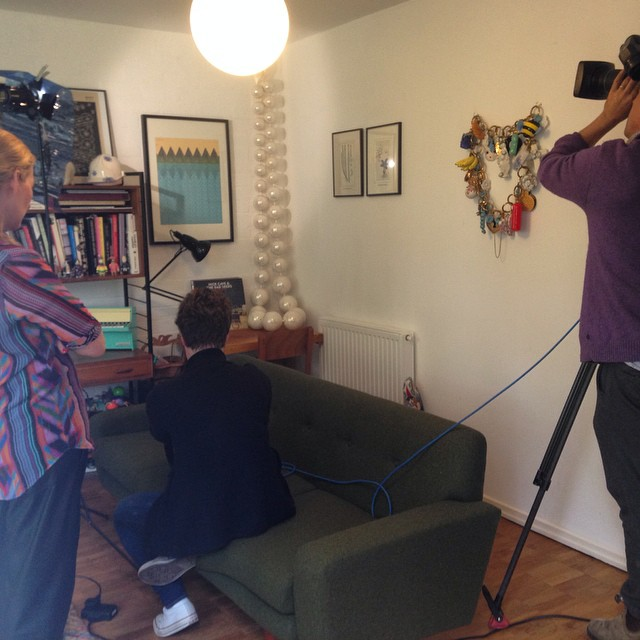 Busy day filming at home with #deutchewelle & @haus_glanz