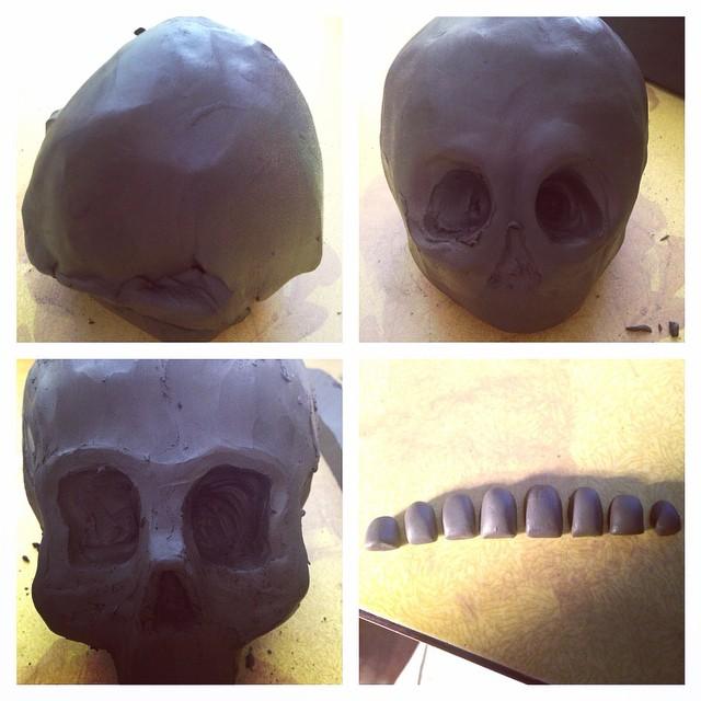 #ceramics #skull&crossbones #black #clay