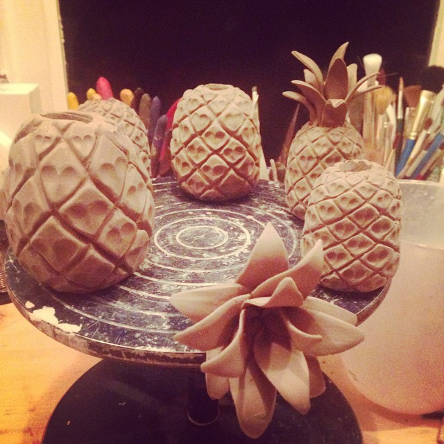 Giant pineapple charms #ceramics #charmbracelet #giant #jewellery