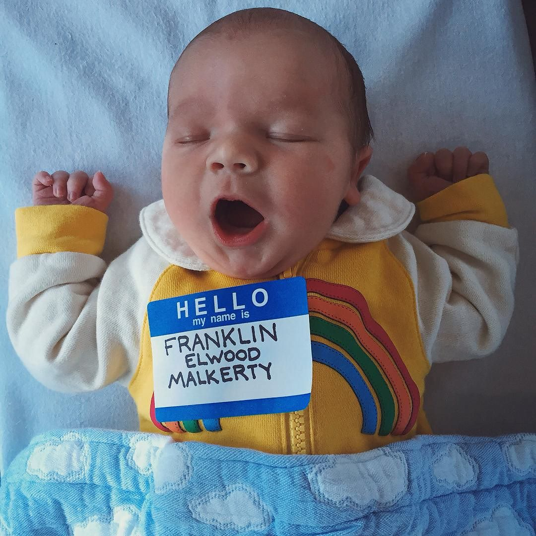 May I and @stevemalkerty Introduce to you Mr Franklin Elwood Malkerty. 1 day old today.