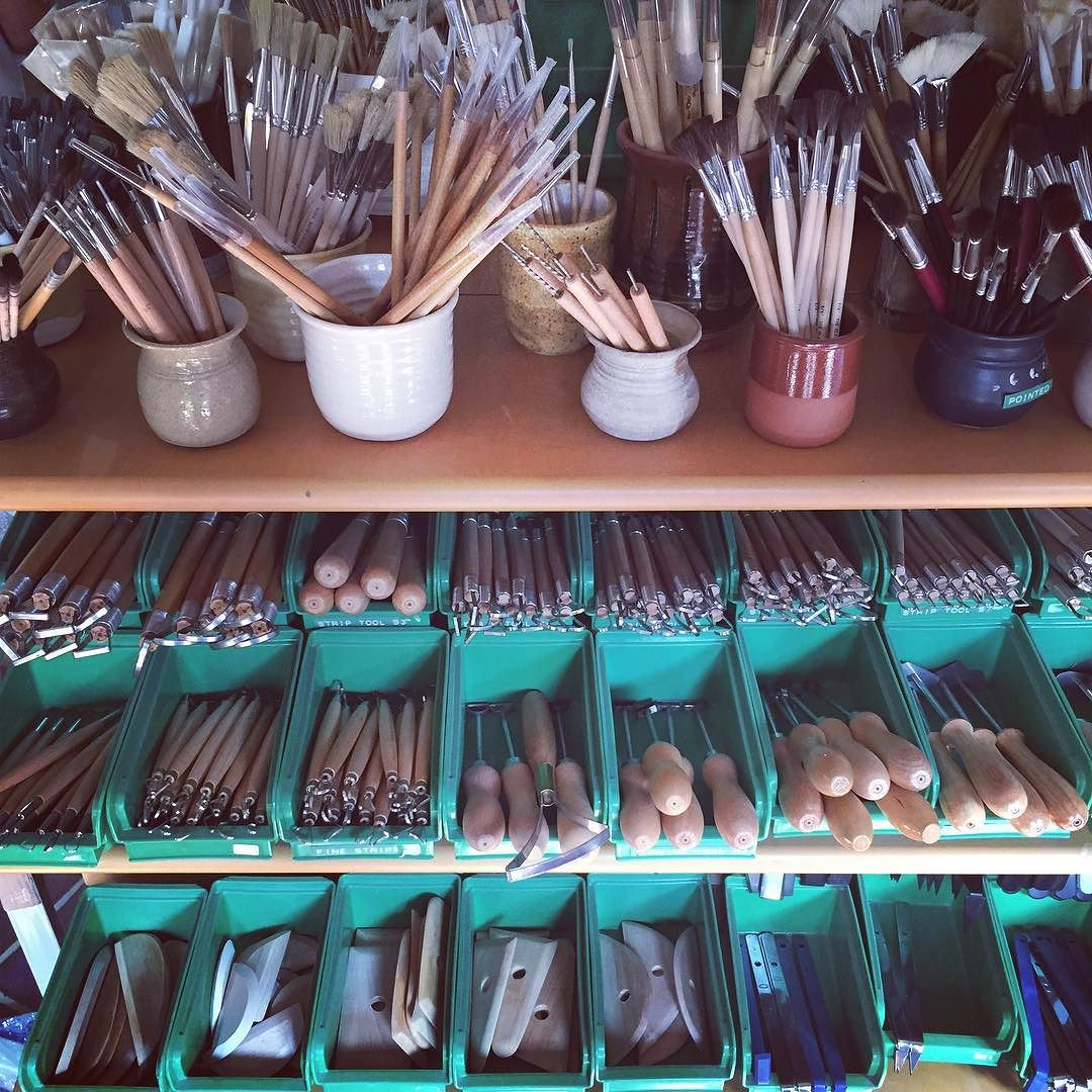 In heaven buying new tools this weekend at the #claycellar #ceramics #tools