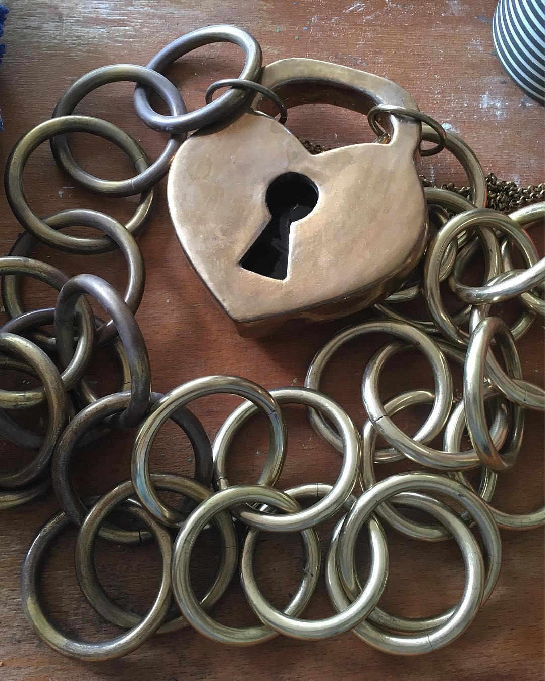 #polishing #giant #charmbracelet #jewellery #ceramic #lock