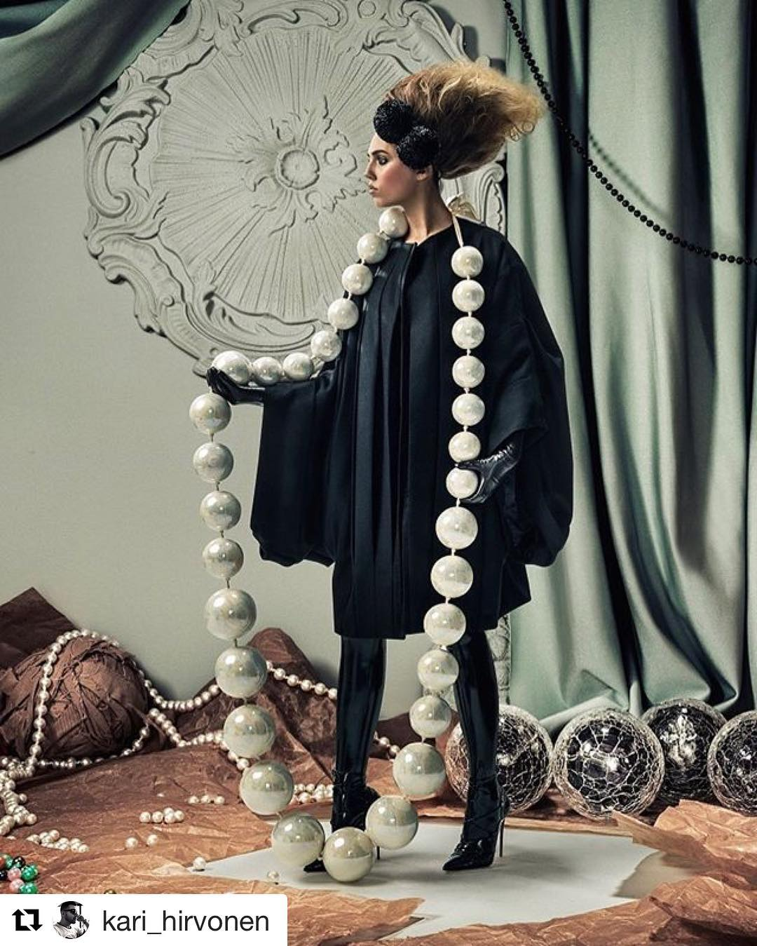 #tbt Thanks for the old shot! Regram from @kari_hirvonen ・・・ Total throwback! Amber Le Bon as Alice in pearls for Schön! magazine @schonmagazine Photo: @aorta_photo Hair: @marcialuvlocks Makeup: @jofrostmakeup Style: @kari_hirvonen assisted by @katietillyer Casting: @jncasting @amberlebonofficial is wearing @simon_ekrelius #simonekrelius #oversized #woolcoat @nicola_malkin #nicolamalkin #giantpearls #pearlnecklace @atsukokudolatex #atsukokudo #latex #latexstockings @louboutinworld #christianlouboutin #highheels #highheelshoes #stilettoheels #womenswear #womensfashion #schonmagazine #aliceinwonderland #karihirvonen